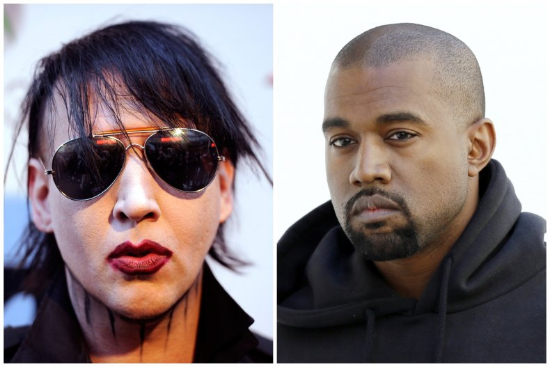 Marilyn Manson and Kanye West