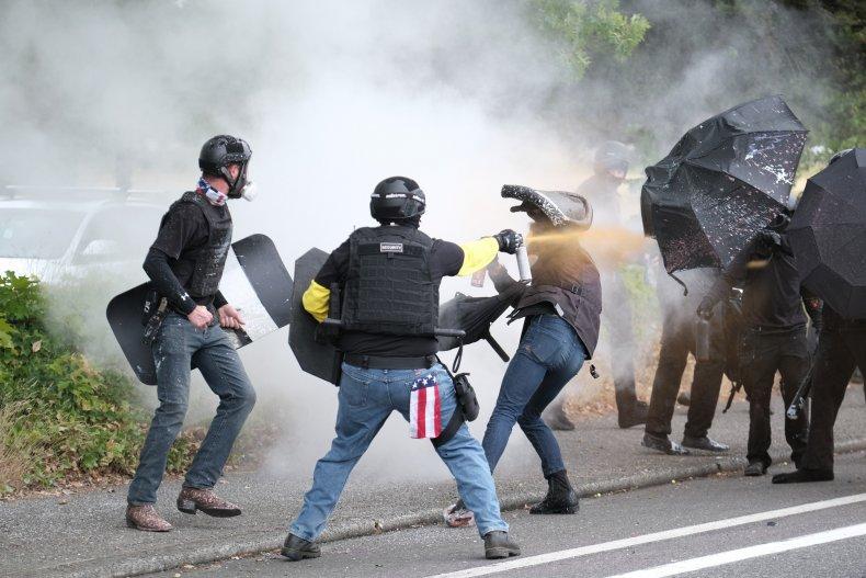 Proud Boys vs Antifascists