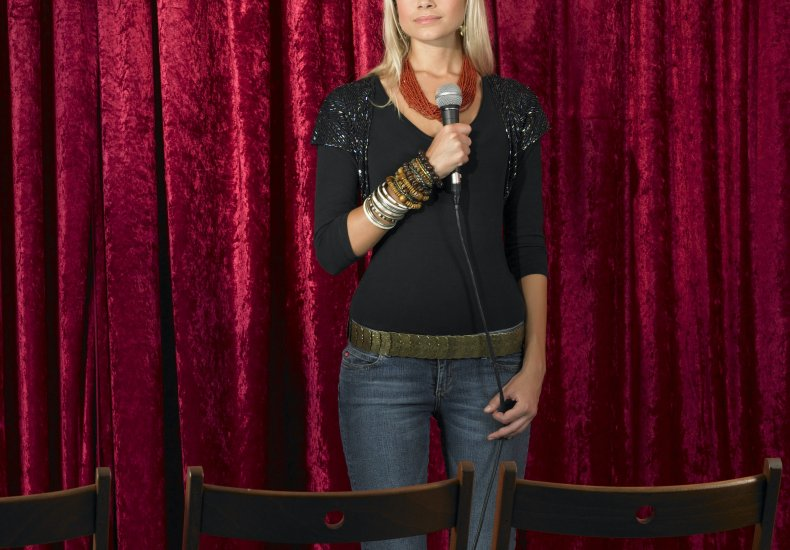 Comedian Jenny Zigrino video man stand-up attack