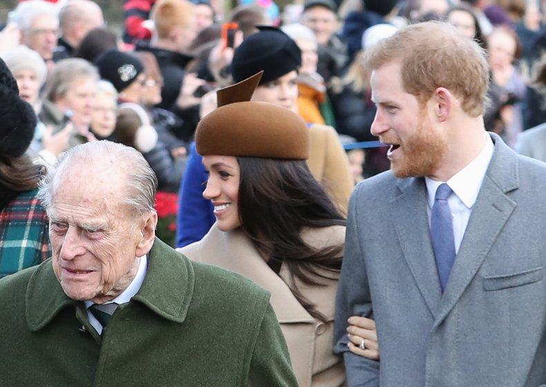 Harry, Meghan and Prince Philip at Christmas