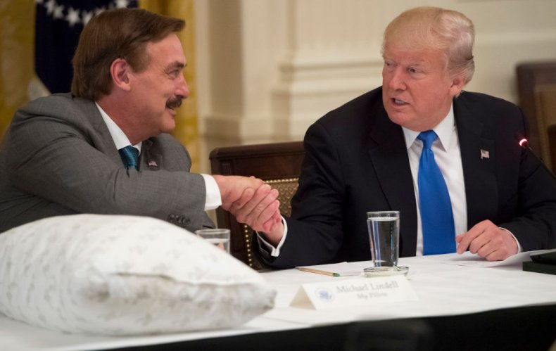 Mike Lindell and Donald Trump