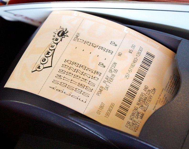 Freshly printed Powerball ticket
