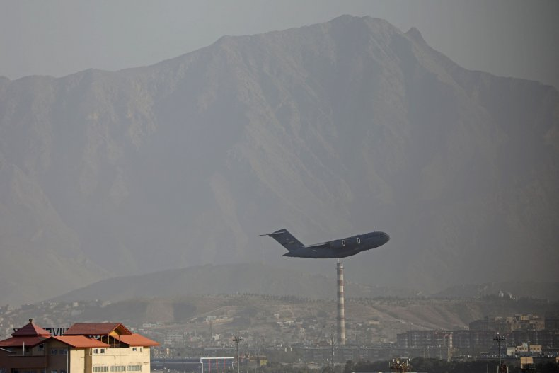 A US Air Force aircraft takes off