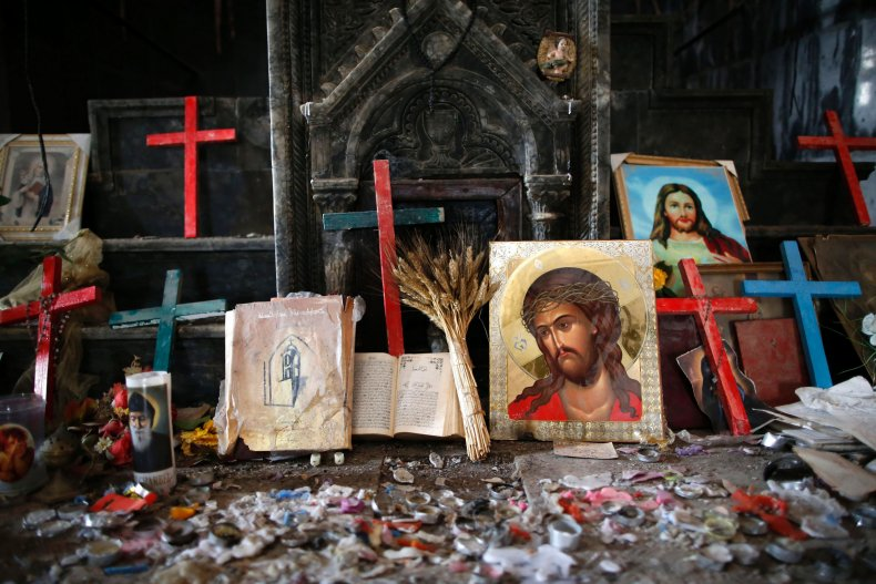 Crucifixes and icons