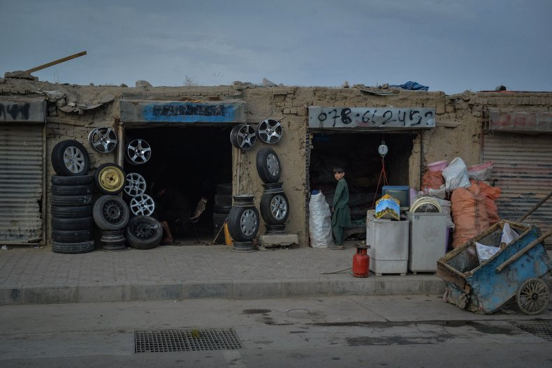 Tire Shop in Kabul, Afghanistan