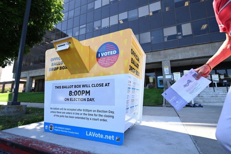 California recall ballot drop box