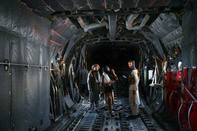 Taliban in aircraft