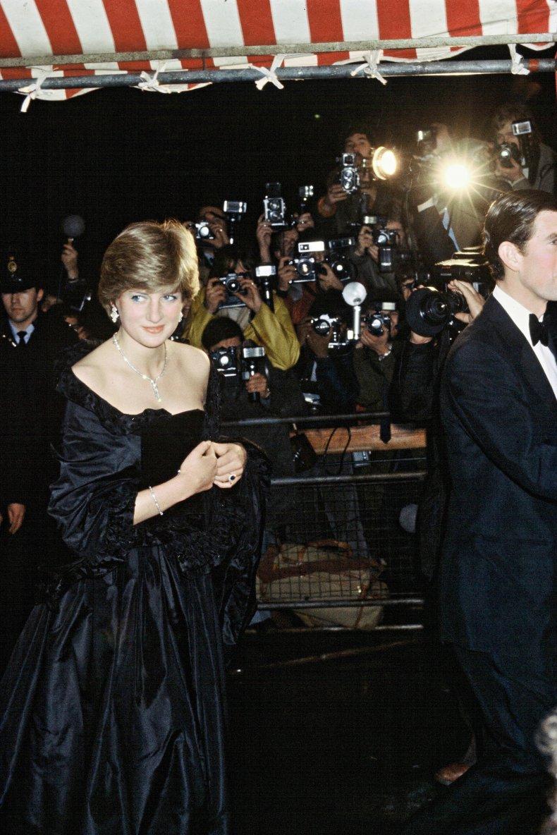 Princess Diana Wears Famous Black Dress