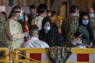 Afghan Refugees Receive COVID Test in Spain