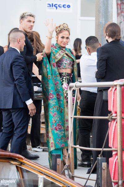 Jennifer Lopez en el show de Dolce Gabbana