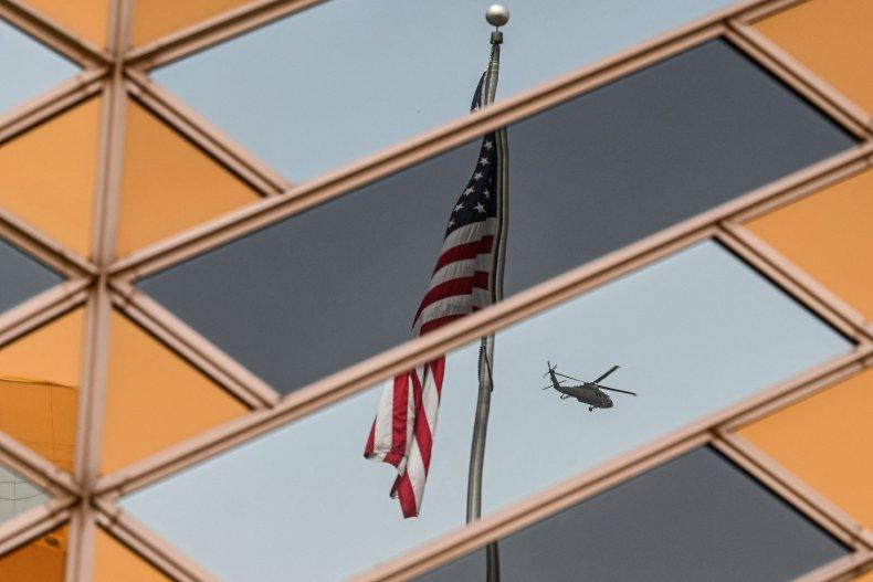 U.S. Flag At Embassy in Kabul