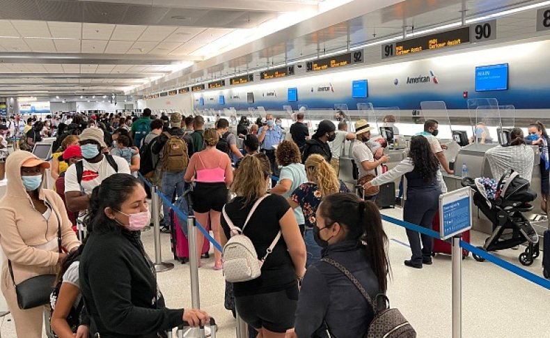 Travel Airport Unvaccinated Labor Day Weekend CDC