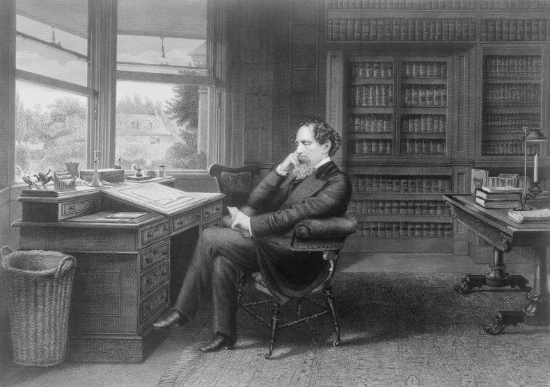 British novelist Charles Dickens