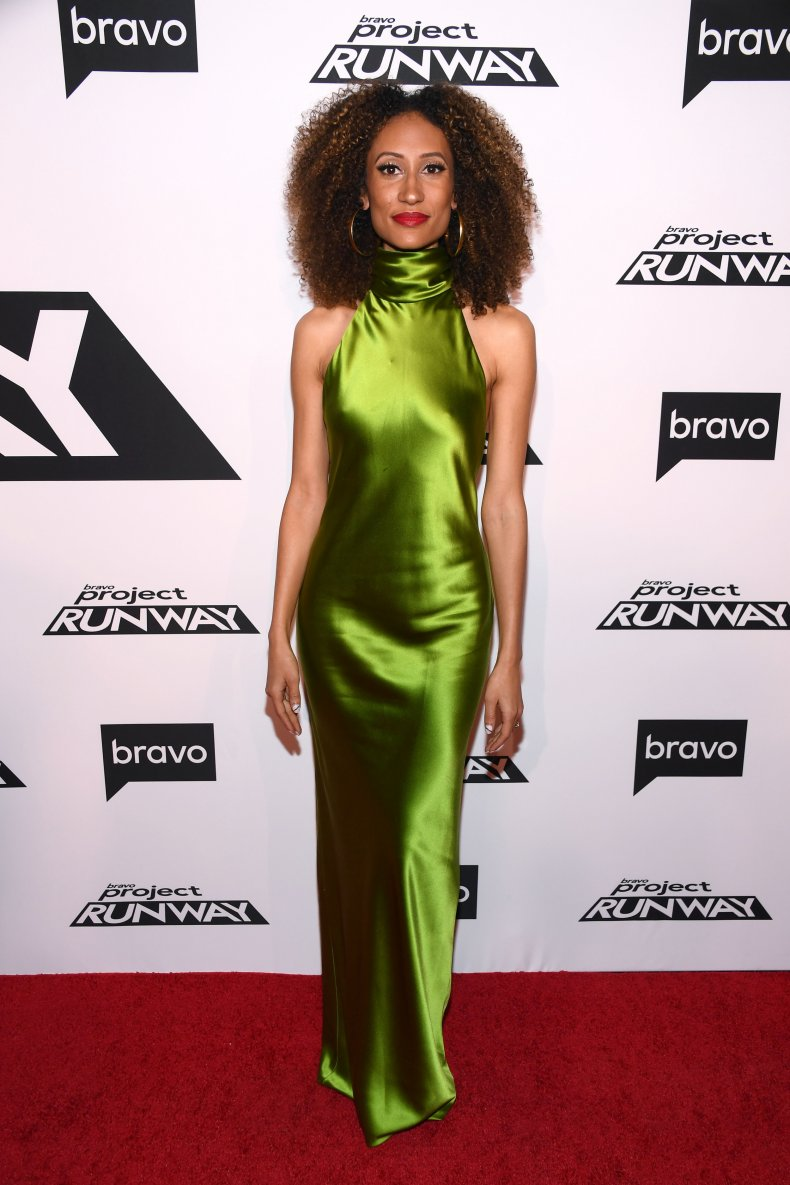 Elaine Welteroth at 2019 Project Runway premiere.