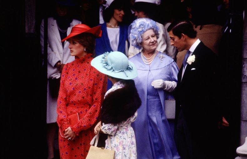 Princess Diana at Soames' Wedding