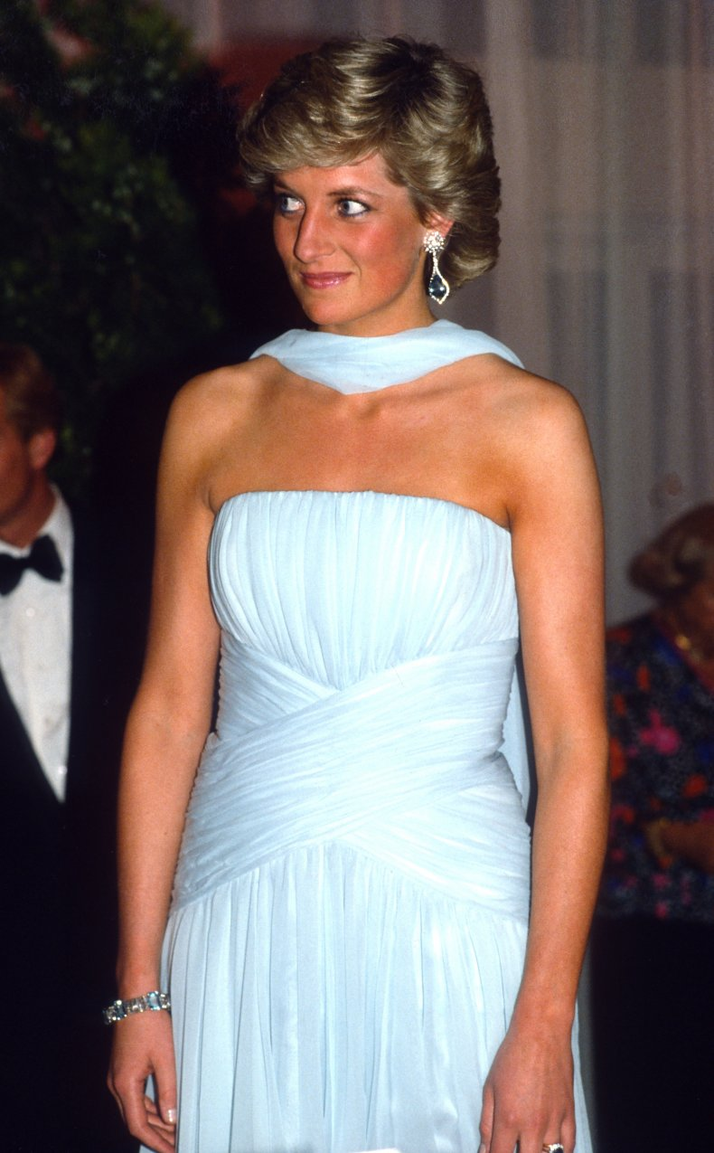 Princess Diana Visits Cannes