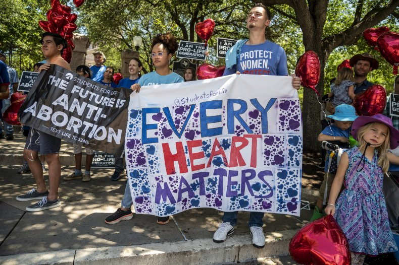 Pro-Life Protesters Gathered in Austin, Texas