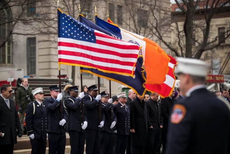 The 2018 funeral of a FDNY firefighter.