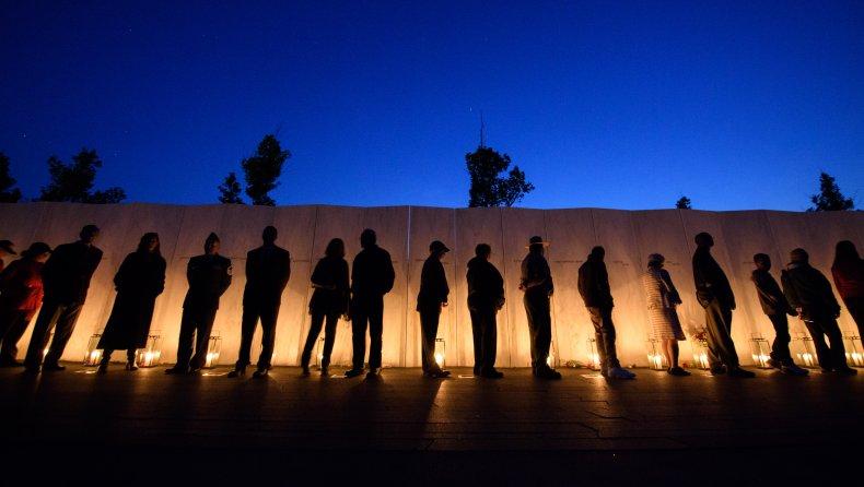 Flight 93 National Memorial's Luminaria candle ceremony.