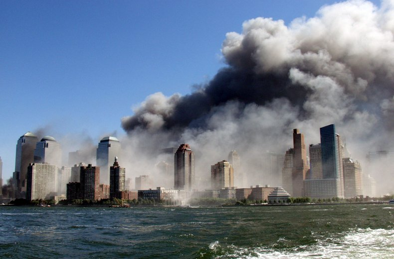 Smoke from 9/11 terror attack in 2001.