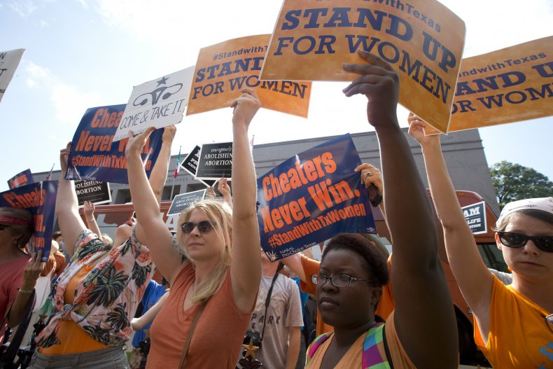 Women Protest Passage of Texas Abortion Law