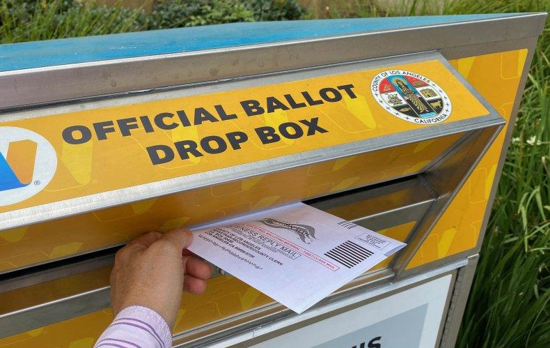 California recall ballot return