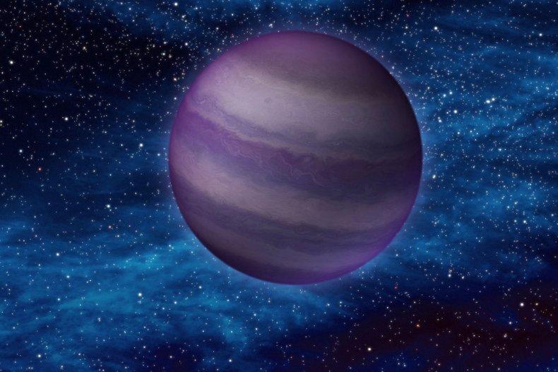 A brown dwarf in space