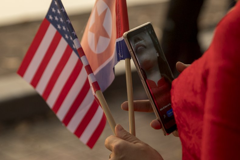 미국과 북한의 국기