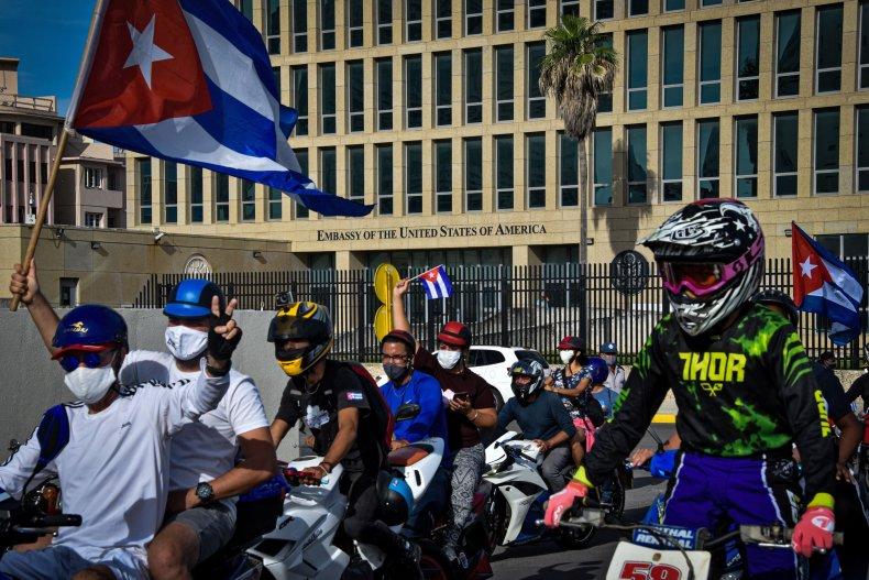 US, embassy, Havana, Cuba, caravan
