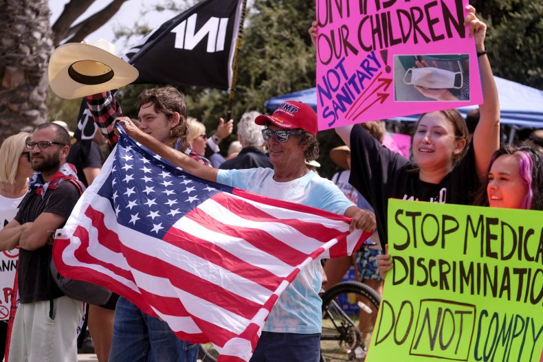 San Diego misinformation public health crisisAnti-vaccination protesters