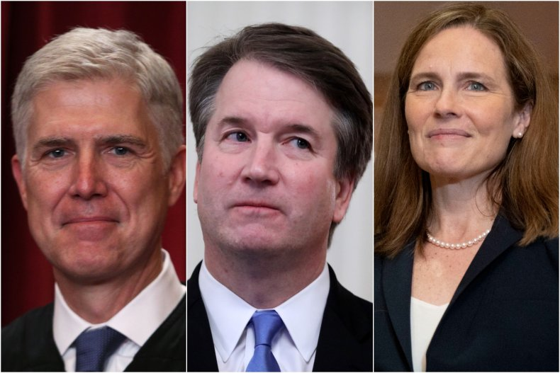 Trump-Appointed Justices Shown in Composite Image