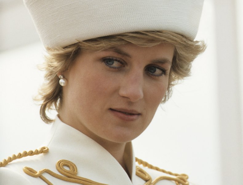 Princess Diana in Military-Style Suit