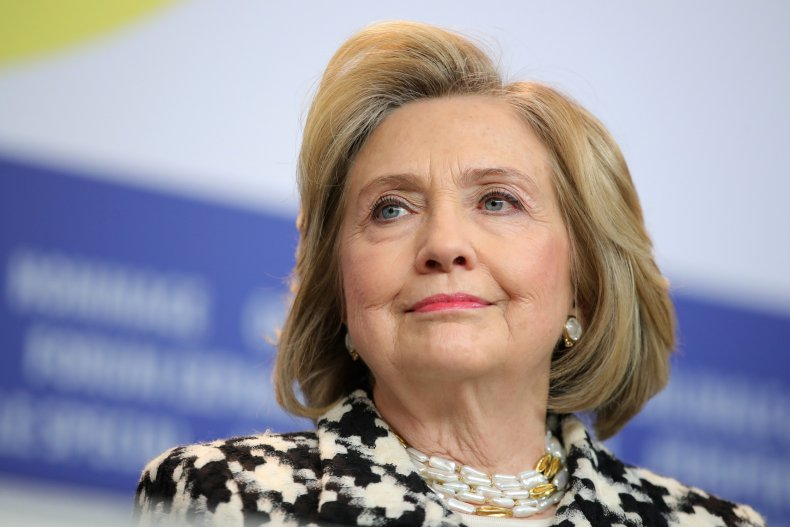 Hillary Clinton Attends a Press Conference