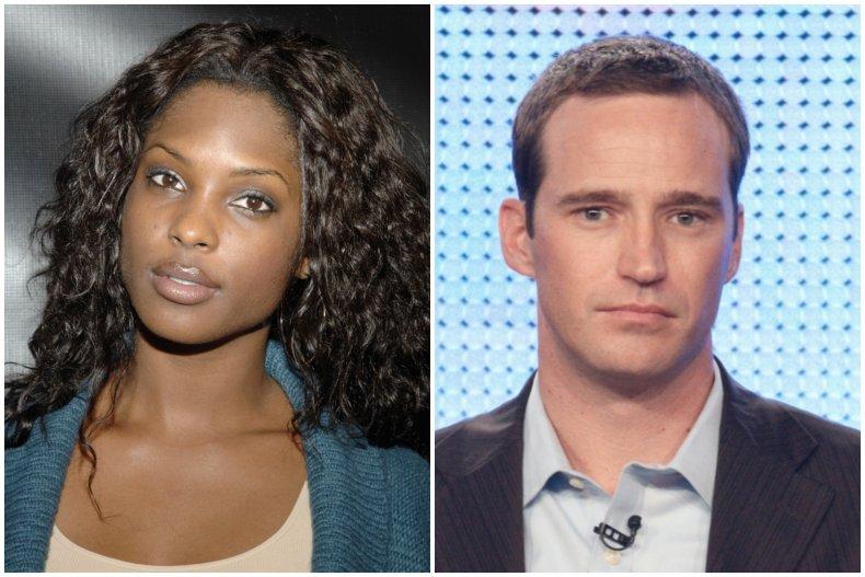 Model Lanisha Cole and producer Mike Richards