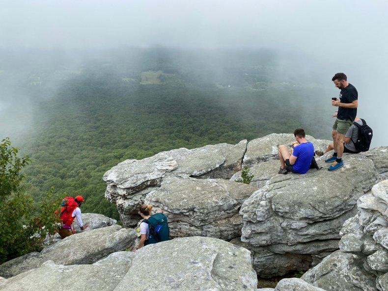 Tourists on Border of West Virginia