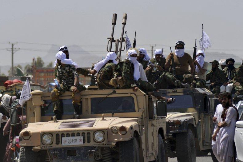 Taliban, parade, weapons, captured, US, Kandahar, Afghanistan