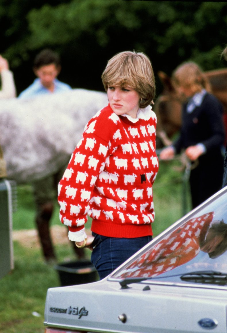 Princess Diana's Black Sheep Jumper
