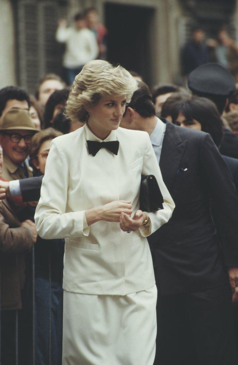 Princess Diana Wears Bow Tie