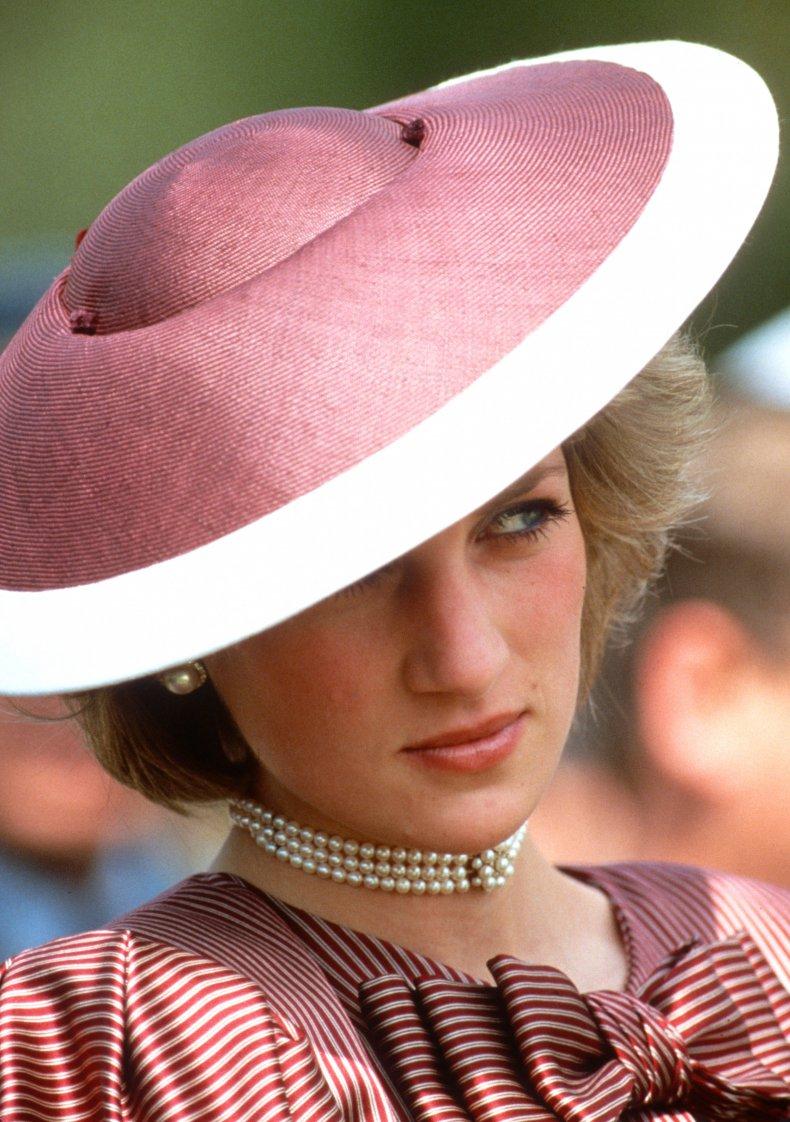 Princess Diana Visits War Cemetery
