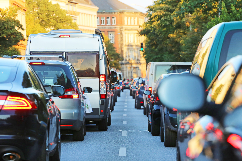 traffic jam Germany Hamburg