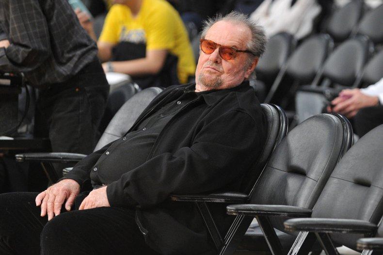 Jack Nicholson at LA Lakers game