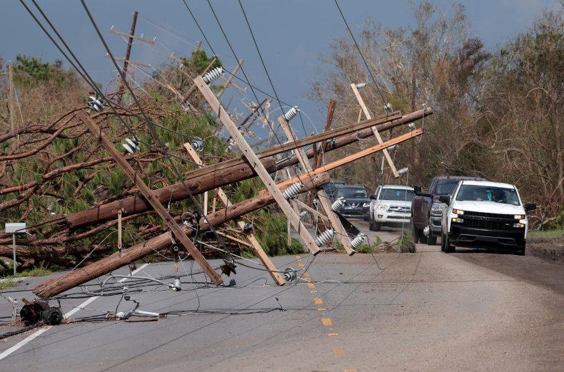 Hurricane Ida downed power lines