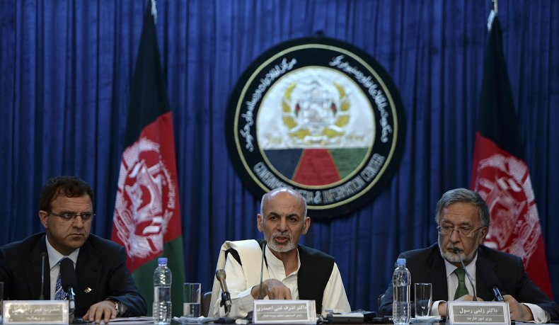 Omar Zakhilwal with Ashraf Ghani Afghanistan