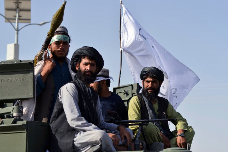Taliban fighters in Kandahar after US withdrawal