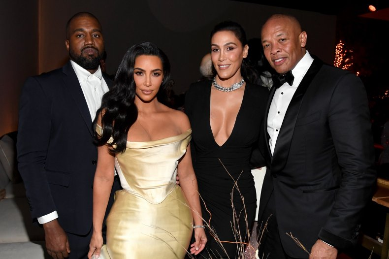 Kanye West, Kim Kardashian and the Youngs