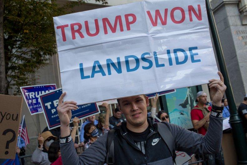 Trump supporters in Pennsylvania