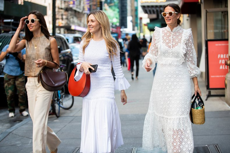 Guests wear white to Tibi's NYFW show