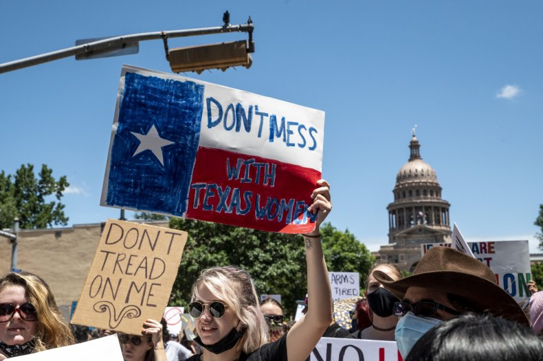 texas abortion ban six weeks protest