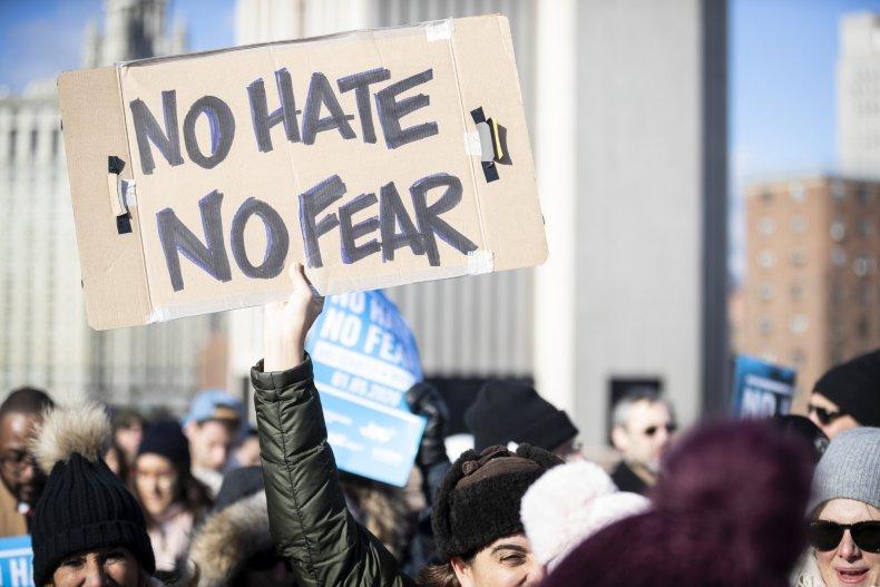 Protest against antisemitism