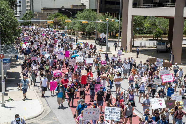 Demonstration Against Texas Abortion Law